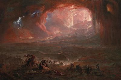 The Destruction of Pompei and Herculaneum-John Martin-Giclee Print