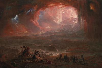 The Destruction of Pompei and Herculaneum-John Martin-Giclee Print