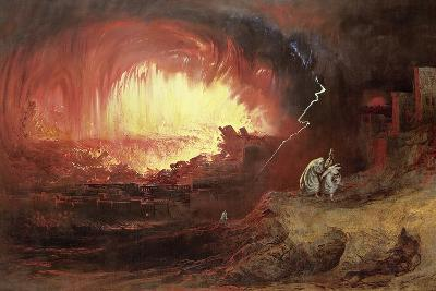 The Destruction of Sodom and Gomorrah, 1852-John Martin-Giclee Print