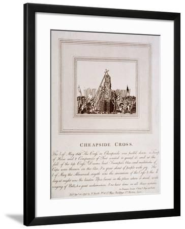 The Destruction of the Cheapside Cross, London, 1793--Framed Giclee Print
