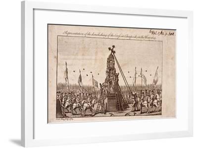 The Destruction of the Cheapside Cross, London, 1793--Framed Giclee Print