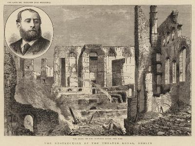 The Destruction of the Theatre Royal, Dublin--Giclee Print
