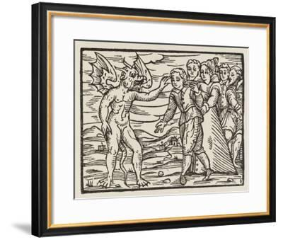 The Devil Puts His Mark on a New Recruit--Framed Giclee Print