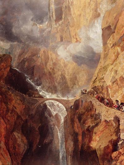 The Devil's Bridge-J^ M^ W^ Turner-Giclee Print
