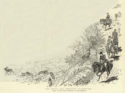 The Devon and Somerset Staghounds-John Charlton-Giclee Print
