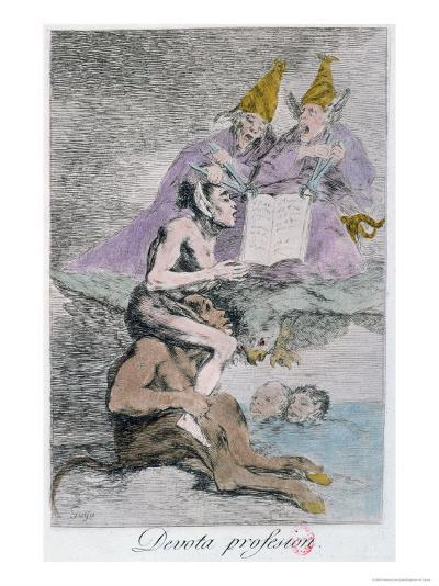 The Devout Profession, Plate 70 of Los Caprichos, Late 18th Century-Francisco de Goya-Giclee Print