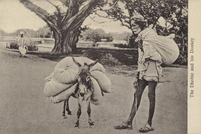 The Dhobie and His Donkey--Photographic Print