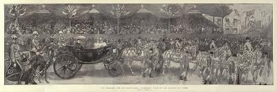 The Diamond Jubilee Procession, Panoramic View of the Queens Equipage-William Hatherell-Giclee Print