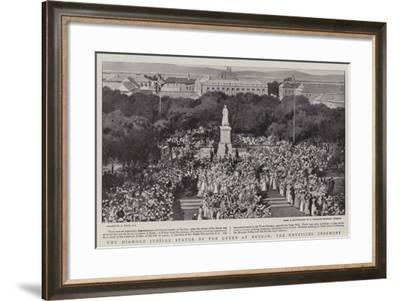 The Diamond Jubilee Statue of the Queen at Durban, the Unveiling Ceremony-Joseph Nash-Framed Giclee Print