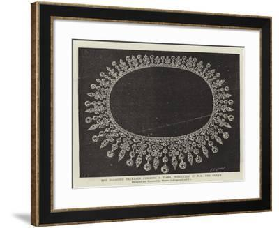 The Diamond Necklace Forming a Tiara, Presented by HM the Queen--Framed Giclee Print