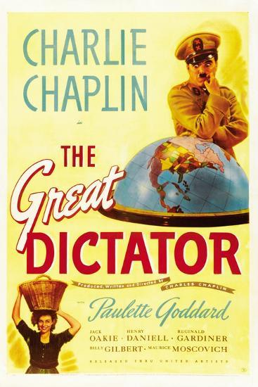 """The Dictator, 1940 """"The Great Dictator"""" Directed by Charles Chaplin--Giclee Print"""