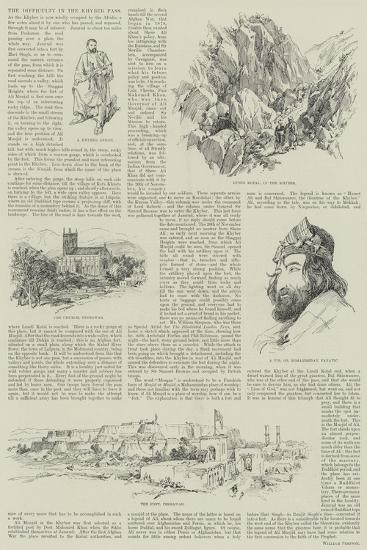 The Difficulty in the Khyber Pass--Giclee Print