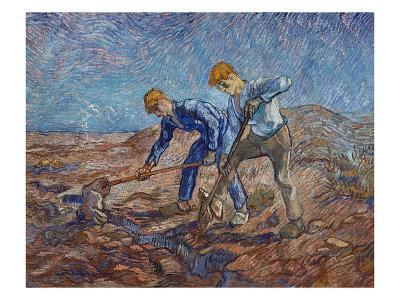 The Diggers-Vincent van Gogh-Giclee Print
