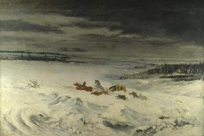 The Diligence in the Snow, 1860-Gustave Courbet-Giclee Print