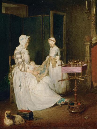 The Diligent Mother, 1740-Jean-Baptiste Simeon Chardin-Giclee Print