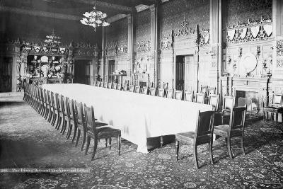 The Dining Room, Viceregal Lodge, India, 20th Century--Photographic Print