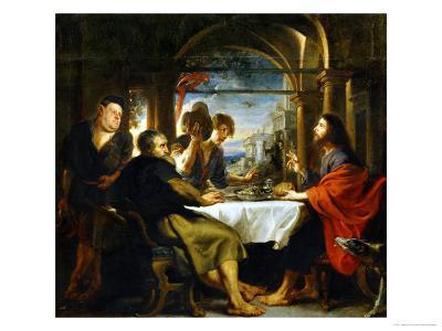 The Dinner at Emmaus-Peter Paul Rubens-Giclee Print