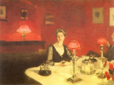The Dinner Table at Night, 1884-John Singer Sargent-Giclee Print