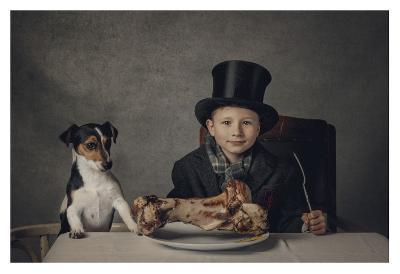 The Dinner-Monika Vanhercke-Giclee Print