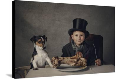 The Dinner-Monika Vanhercke-Stretched Canvas Print