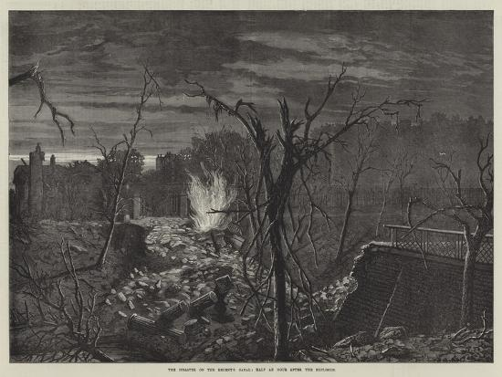 The Disaster on the Regent's Canal, Half an Hour after the Explosion-John Templeton Lucas-Giclee Print