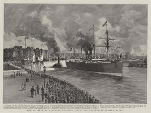 The Disaster to a French Atlantic Liner, La Bourgogne Leaving Havre