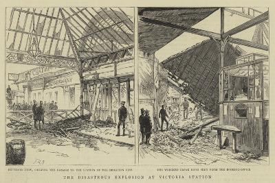 The Disastrous Explosion at Victoria Station--Giclee Print