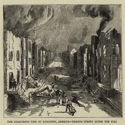 The Disastrous Fire at Kingston, Jamaica, Orange Street after the Fire--Giclee Print