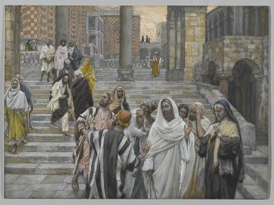 The Disciples Admire the Buildings of the Temple-James Tissot-Giclee Print