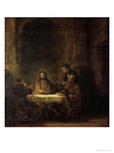 The Disciples at Emmaus, 1648-Rembrandt van Rijn-Giclee Print