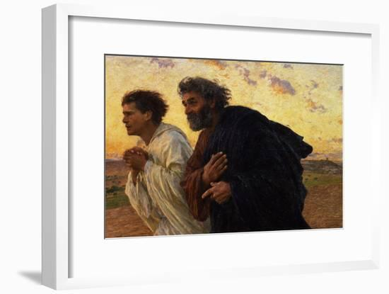 The Disciples Peter and John Running to Sepulchre on the Morning of the Resurrection, circa 1898-Eugene Burnand-Framed Giclee Print