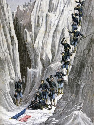 The Discovered Corpse of Lieutenant Bujon, French Alps, 1891-Henri Meyer-Giclee Print