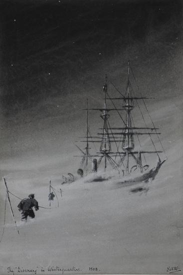 The 'Discovery' in Winterquarters, 1903-Edward Adrian Wilson-Giclee Print