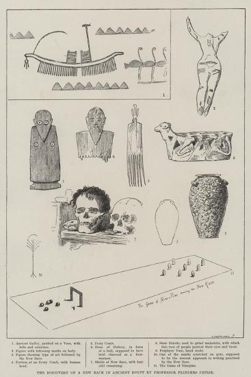 The Discovery of a New Race in Ancient Egypt by Professor Flinders Petrie--Giclee Print