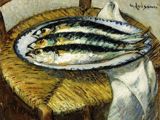 The Dish of Mackerels, C.1923-Gustave Loiseau-Giclee Print