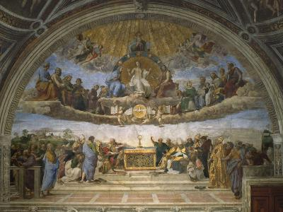 The Disputation of the Holy Sacrament, from the Stanza Della Segnatura, 1509-10-Raphael-Giclee Print