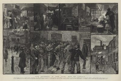 The Distress in the East End of London-Charles Joseph Staniland-Giclee Print