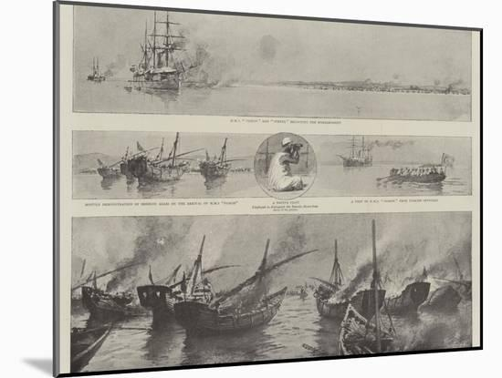 The Disturbance Off Bahrein in the Persian Gulf, the Bombardment of the Pirate Dhows-Joseph Nash-Mounted Giclee Print