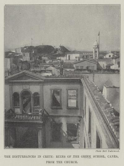 The Disturbances in Crete, Ruins of the Greek School, Canea, from the Church--Giclee Print