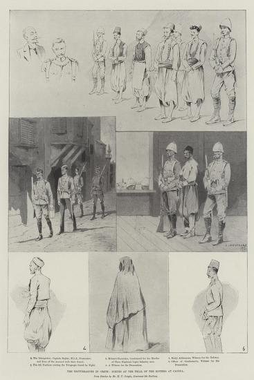 The Disturbances in Crete, Scenes at the Trial of the Rioters at Candia-Charles Auguste Loye-Giclee Print