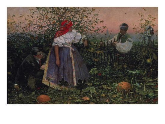 The Disturbed Tryst, 1888-Joza Uprka-Giclee Print