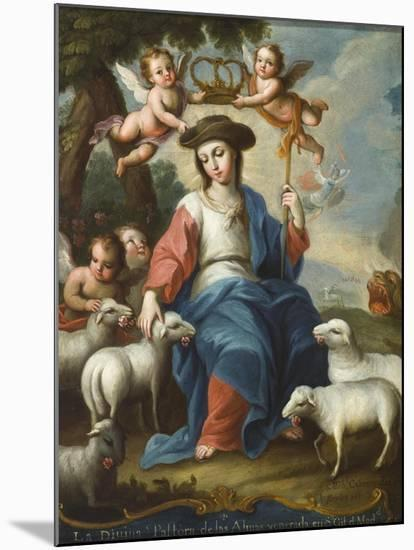 The Divine Shepherdess (La Divina Pastora), c.1760-Miguel Cabrera-Mounted Giclee Print