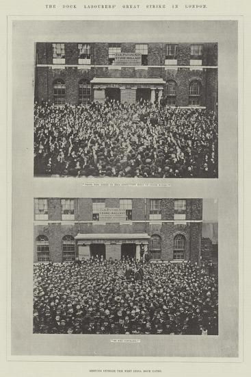 The Dock Labourers' Great Strike in London--Giclee Print