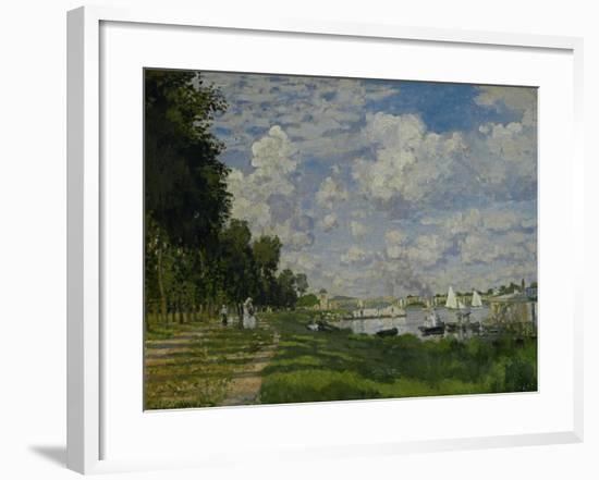The Docks of Argenteuil (Le Bassin D'Argenteuil), Around 1872-Claude Monet-Framed Giclee Print