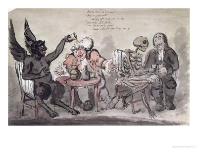 The Doctor and His Friends, Engraved by Issac Cruikshank-George Moutard Woodward-Giclee Print