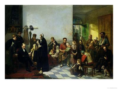The Doctor for the Poor-J. Leonard-Giclee Print