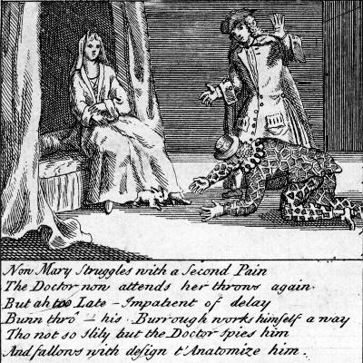The Doctor in Labour, or the New Whim Wham from Guildford, Circa 1726-Haynes King-Giclee Print