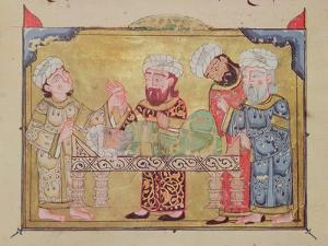"""The Doctor's Visit to His Patient, Scene from """"The Maqamat"""" by Al-Hariri"""