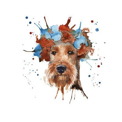 The Dog's Muzzle in the Headdress is Made in the Form of a Wreat- luchioly-Art Print