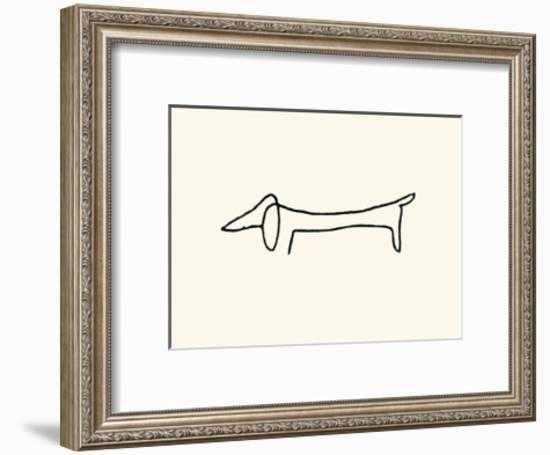 The Dog-Pablo Picasso-Framed Serigraph
